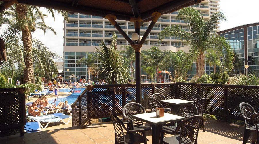 Pool bar view flamingo oasis hotel benidorm